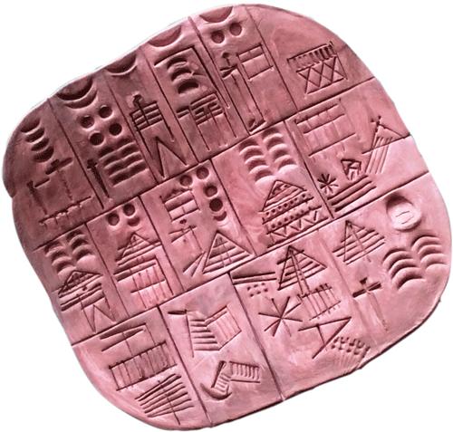 картинки глиняных табличек для письма достойной